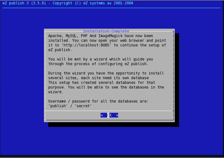 Linux installer - step 6