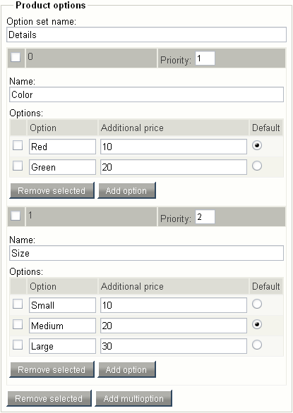 "Object attribute edit interface for the ""Multi-option"" datatype."