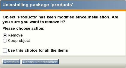 Uninstalling packages / Packages / Features / 3 8