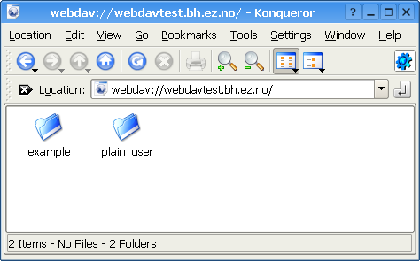 WebDAV - Virtual top folder