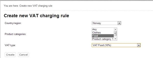 Creating a New VAT Rule