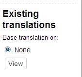 The Existing Translations Window